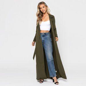 NWT Tobi Olive Sienna Duster Cardigan size Small